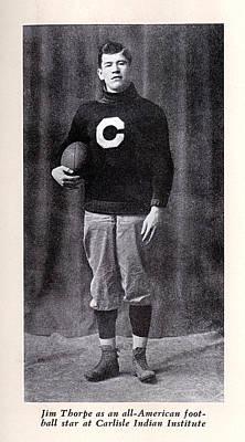 Football, Jim Thorpe In Carlisle Indian Poster by Everett