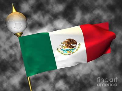 Football World Cup Cheer Series - Mexico Poster by Ganesh Barad