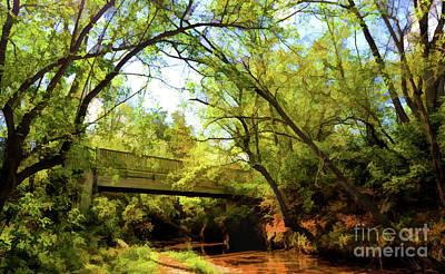 Poster featuring the photograph Footbridge At Bisset Park - Radford Virginia by Kerri Farley