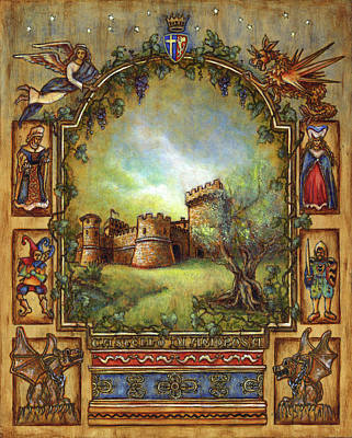 Poster featuring the painting For The Love Of Castles by Retta Stephenson