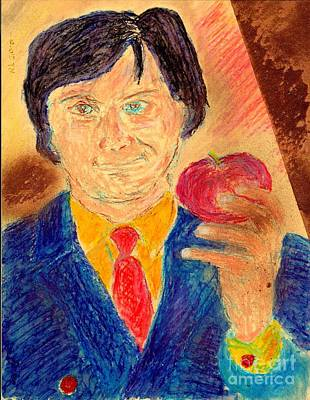 Poster featuring the painting Forbidden Fruit From Steve Jobs by Richard W Linford