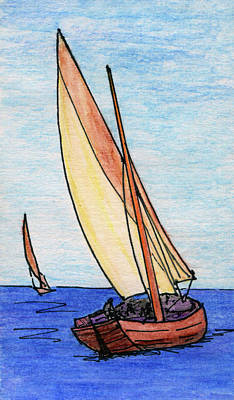 Force Of The Wind On The Sails Poster
