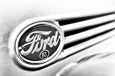 Ford 85 In Black And White Poster by Caitlyn Grasso