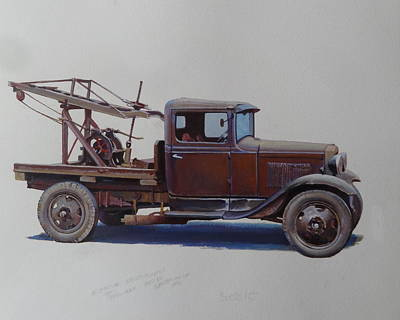 Ford A Type Wrecker. Poster by Mike  Jeffries