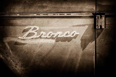 Ford Bronco Side Emblem -0827s Poster by Jill Reger