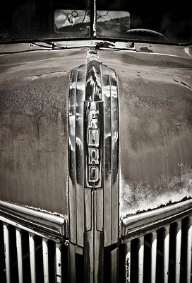 Ford Chrome Grille Poster by Marilyn Hunt