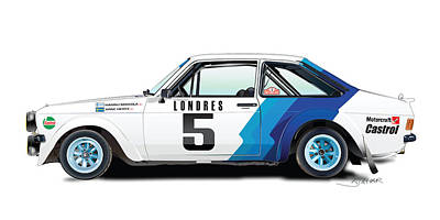 Ford Escort Poster by Alain Jamar