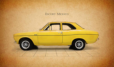 Ford Escort Mexico Poster by Mark Rogan
