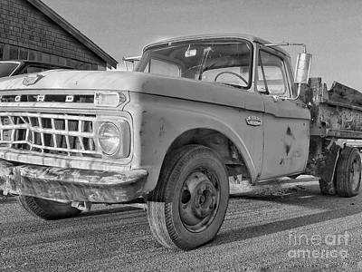 Ford F-150 Dump Truck Bw Poster