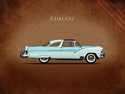 Ford Fairlane 1955 Poster by Mark Rogan