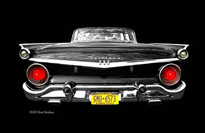 Ford Fairlane 500 Poster by Diana Angstadt
