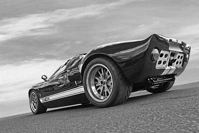 Ford Gt 40 In Black And White Poster