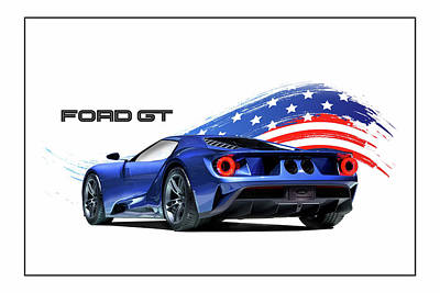 Ford Gt America Poster