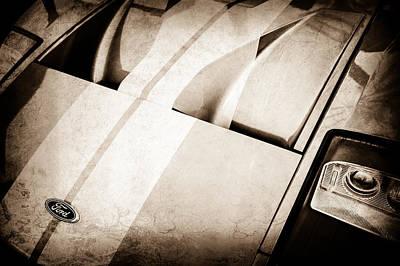 Ford Gt Hood Emblem -0402ac Poster by Jill Reger