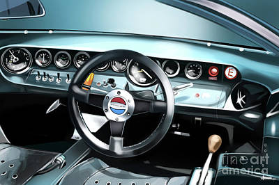 ford gt40 interior poster