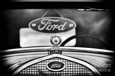 Ford Model A Monochrome Poster by Tim Gainey