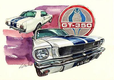 Ford Mustang Gt350 Poster by Yoshiharu Miyakawa