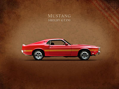 Ford Mustang Shelby Gt350 1969 Poster by Mark Rogan