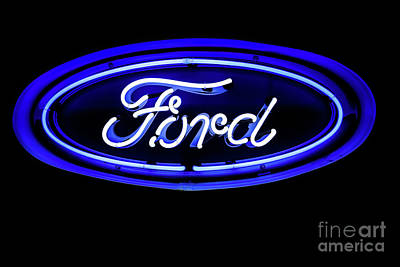 Ford Neon Sign Poster