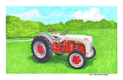 Poster featuring the painting Ford Tractor 1941 by Jack Pumphrey