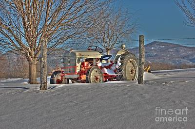 Ford Tractor Poster by Todd Hostetter