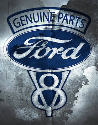 Ford V8 Poster by Mark Rogan