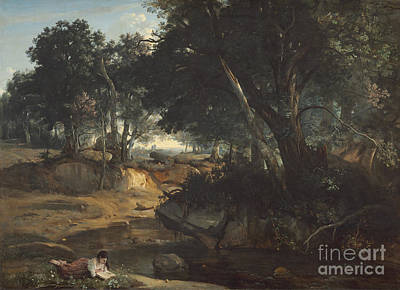 Forest Of Fontainebleau Poster by Jean-baptiste-camille Corot