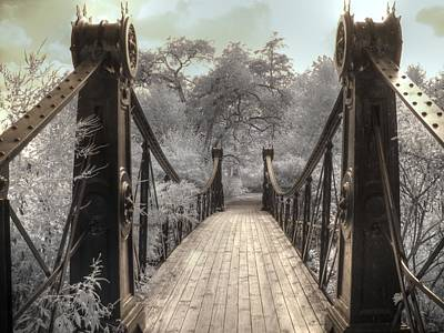 Forest Park Victorian Bridge Saint Louis Missouri Infrared Poster by Jane Linders
