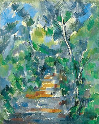 Forest Scene  Poster by Paul Cezanne