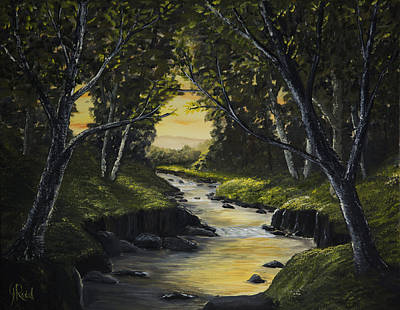 Forest Stream Poster by John Reid