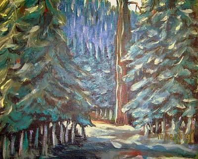 Forest Visit Poster by Steven Holder