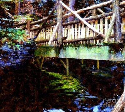 Forest Wooden Bridge Poster