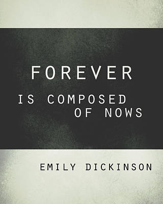 Forever Emily Dickinson Quote Poster