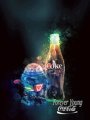 Poster featuring the photograph Forever Young Coca-cola by James Sage