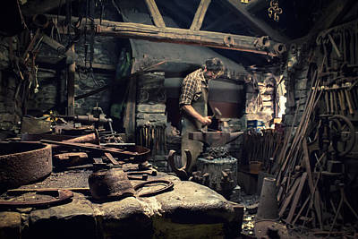 Forging Metal Poster