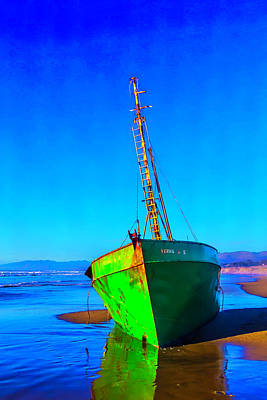 Forgotten Green Boat Poster