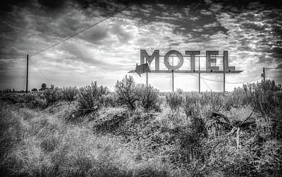 Poster featuring the photograph Forgotten Motel Sign by Spencer McDonald