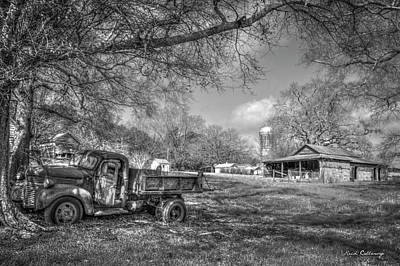 Forgotten Times Georgia Farm Scene Art Poster by Reid Callaway
