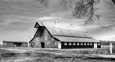 White Windows 2 Rural Hopkinsville Kentucky Barn Art  Poster by Reid Callaway