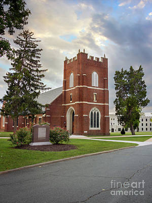 Fork Union Military Academy Wicker Chapel Sized For Blanket Poster