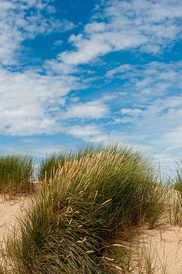 Formby Sand Dunes And Sky Poster