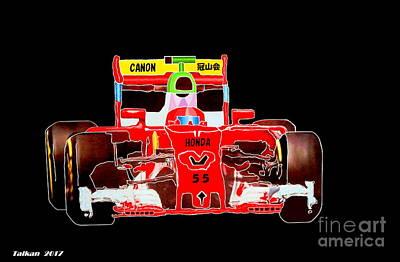 Formula One Car By Taikan Poster