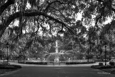 Forsyth Park Fountain 2 Savannah Georgia Art Poster by Reid Callaway