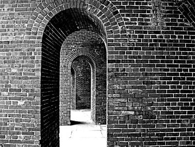 Fort Arches In Black And White Poster