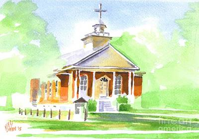 Poster featuring the painting Fort Hill Methodist Church 2 by Kip DeVore
