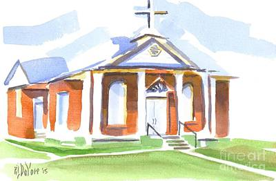 Poster featuring the painting Fort Hill Methodist Church by Kip DeVore