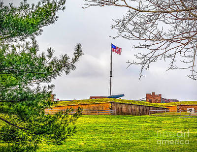 Poster featuring the photograph Fort Mchenry National Monument  by Nick Zelinsky