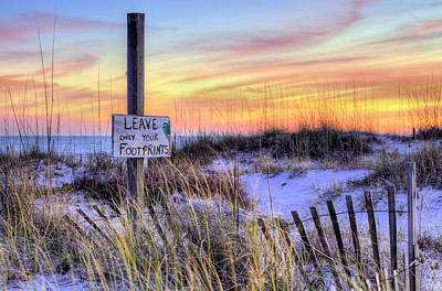 Fort Morgan Sunsets Poster by JC Findley
