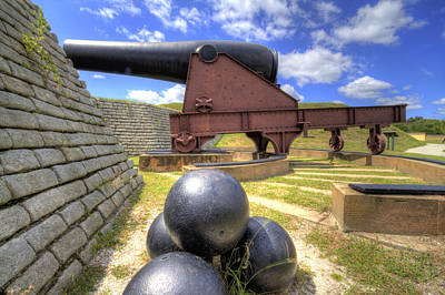 Fort Moultrie Cannon Balls Poster by Dustin K Ryan