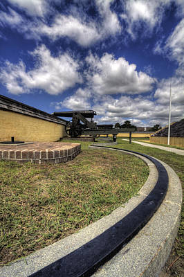 Fort Moultrie Cannon Rails Poster by Dustin K Ryan
